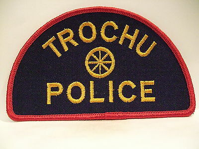 police patch  TROCHU POLICE ALBERTA CANADA  DEFUNCT OLD STYLE
