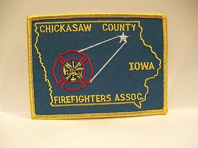 fire patch  CHICKASAW COUNTY FIREFIGHTERS ASSOC   IOWA
