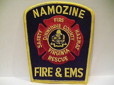 fire patch  NAMOZINE  FIRE RESCUE HAZMAT EMS DINWIDDLE COUNTY FIRE DEPT VIRGINIA