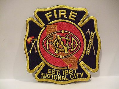 fire patch  NATIONAL CITY FIRE   CALIFORNIA