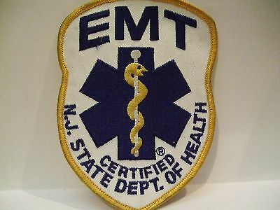 fire patch  N.J. STATE  CERTIFIED EMT   NEW JERSEY