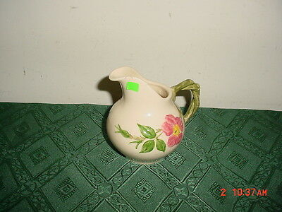 """Franciscan """"desert Rose"""" Creamer/1816/handpainted/cream-Pink-Grn/as Is/clearance"""