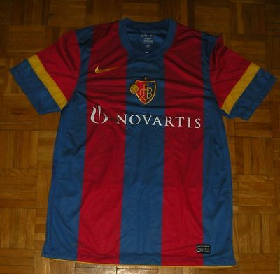 "FC Basel 2010-2012 Nike ""M"" Home Shirt Football Trikot *Mint*"