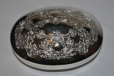 Towle Silver Plated Trinket Oval Box