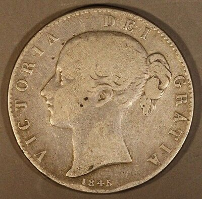 1845 Great Britain Crown Circulated                   ** FREE U.S. SHIPPING **