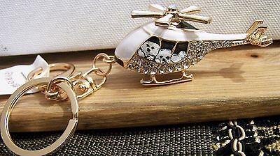 Bichon Frise hand painted  crystal key chain  charm