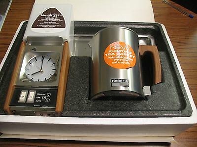New Vintage 1971 Russell Hobbs Automatic teamaker and Tray  - Boxed
