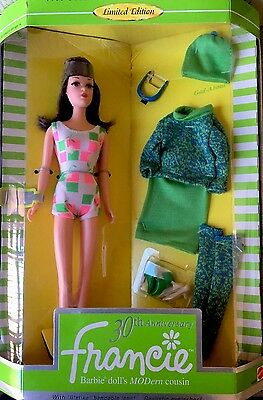 1996 Reproduction of 1966 Francie Barbie Doll 30th Anniversary