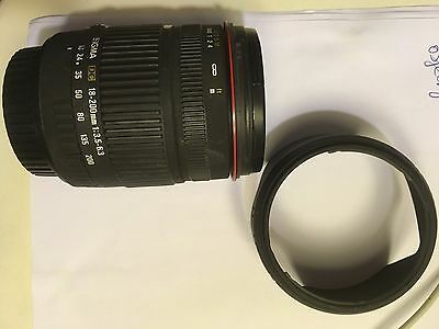 Sigma Objectif 18-200 mm F3,5-6,3  Monture Canon