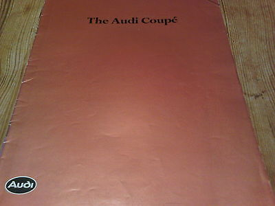 The Audi Coupe Brochure 1983