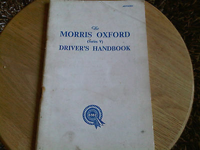 Morris Oxford Series V 5 Drivers Owners Handbook Instruction Manual Guide