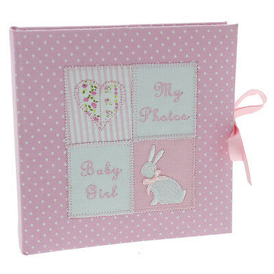 "Baby Girl Photo Album Baby Shower Gift Pink Heart & Stars Design 6 x 4"" photo's"