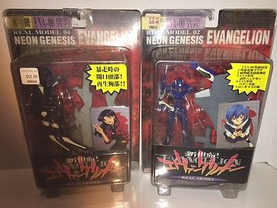 Set of Two Neon Genesis Evangelion Action Figures NEW Free Shipping!