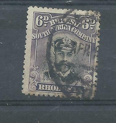 Rhodesia stamps. 6d Admiral used. (Y216)