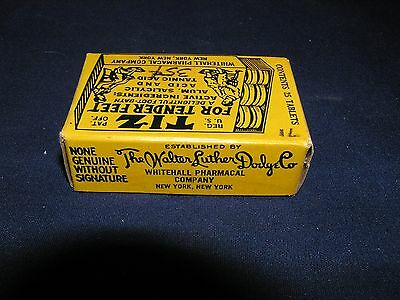 Vintage Tiz For Tender Feet Tablets in Original Box with Graphics