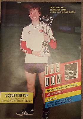 The Don : February 1987 Aberdeen v Celtic Programme : Scottish Cup