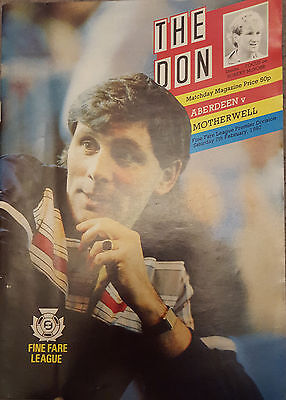 The Don : February 1987 Aberdeen v Motherwell Programme