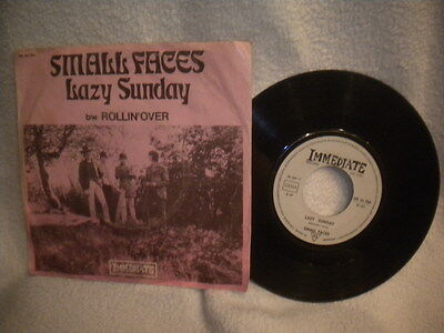 """7"""" Small Faces -- Lazy Sunday / Rollin´ Over"""