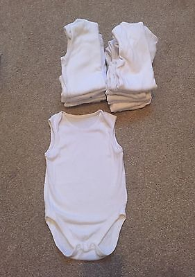 Mothercare Vests 12-18 Months White
