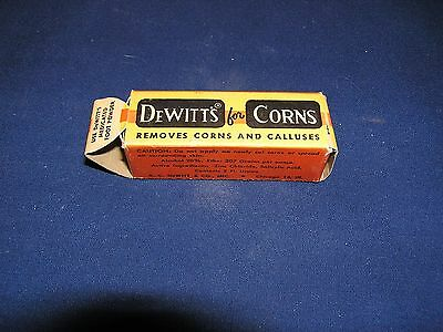 Vintage DeWitt's Remover for Corns and Calluses in Original Box