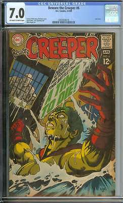 Beware The Creeper #6 Cgc 7.0 Ow/wh Pages