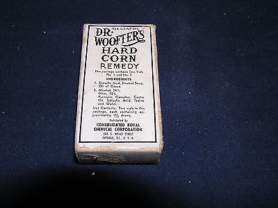 Vintage Dr. Woofter's Hard Corn Remedy Two Bottles in Original Box