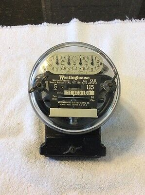 Vintage 1930s Westinghouse Type OB Electric Meter Steampunk