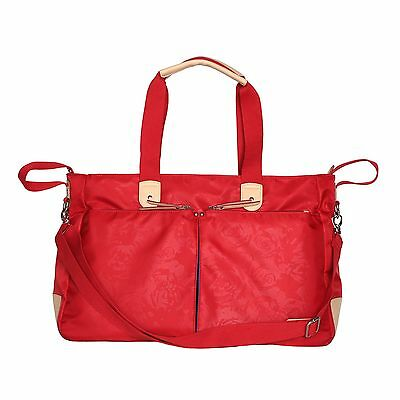 New Embroidered Baby Diaper Nappy Changing Bag Women Large Capacity Tote Red