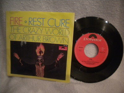 """7"""" The Crazy World Of Arthur Brown -- Fire / Rest Cure"""