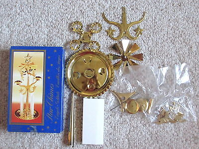 "Swedish 12"" Brass STAR ANGEL CHIMES Never Used, Sealed Packs"