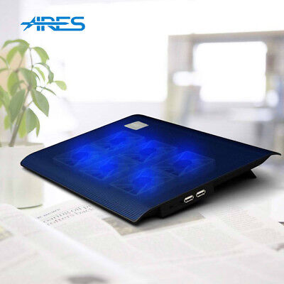 """ARES N2 6 Fans Laptop Cooling Pad Cooler For 11"""" 12"""" 13"""" 13.3"""" 14"""" Inches Laptop"""
