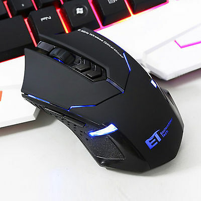 Professional X08 Blue LED 2000DPI Wireless 2.4G Game Gaming Mouse Mice PC Laptop