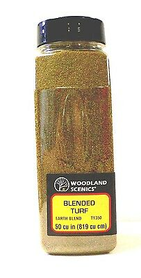Woodland Scenics Ground Cover Foam Blended Turf Earth Blend Model Railroad 1350