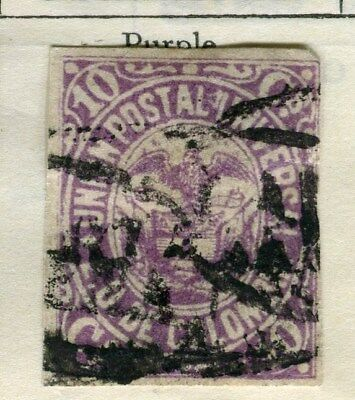 COLOMBIA;  1881-83 early classic Imperf used 10c. value