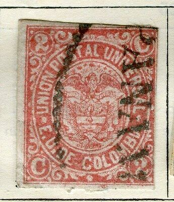 COLOMBIA;  1881-83 early classic Imperf used 2c. value