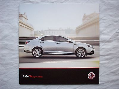MG6 Magnette Range UK Brochure 2012 S SE TSE 1.8 Turbo