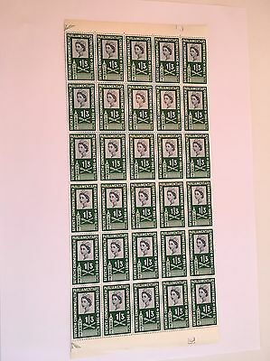 1961 SG630 1s3d Commonwealth Parliamentary Qtr Sheet Block of 30 stamps