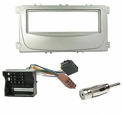 1Din Car Radio Face Frame Mounting Kit Ford Focus/Mondeo/S-Max/Galaxy - Grey