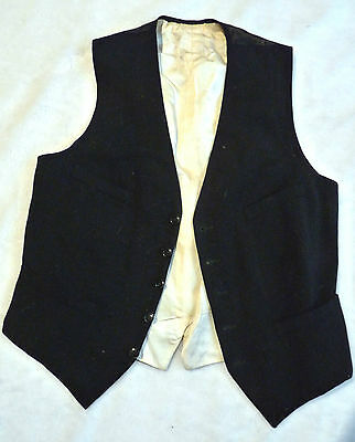Beautifully Tailored Silk Lined Traditional French Vintage Wool Waistcoat.  Sml