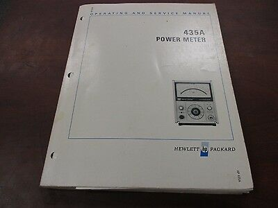 HP 435A Used Power Meter Operating and Service Manual