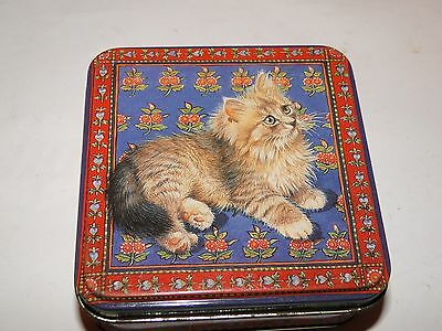 Small CAT Collectable Past Times tin 2002 VGC
