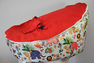 Baby Bean Bag - Pre filled With 2 Removable Covers & Harness - Animal Design
