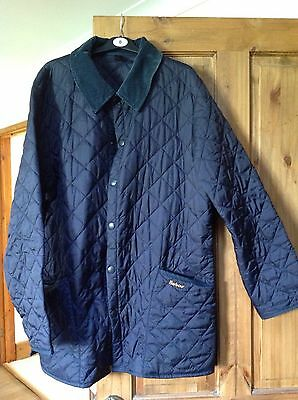 Men's Navy Barbour Liddesdale Quilted Jacket - Size Large