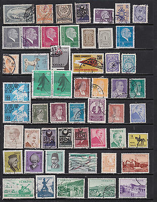 Turkey - Wide Ranging Selection - sets and singles - 2 SCANS (Tu10122)