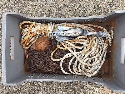 Boat Anchor With Chain And Rope