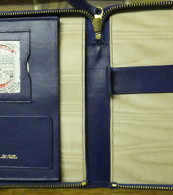 1970's Blue Leather Stationery Case