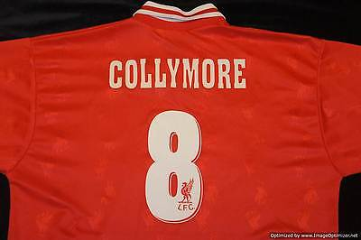 Liverpool REEBOK 1996-1998 Home Football Shirt COLLYMORE 8 LARGE