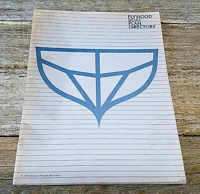 Vintage 1970 Plywood Boat Plan Directory Book - American Plywood Association