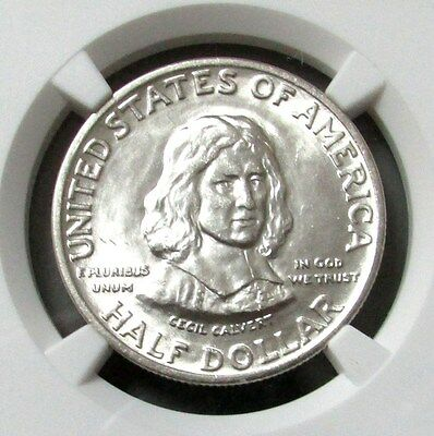 1934 Silver Maryland Commemorative Half Dollar Ngc Mint State 65