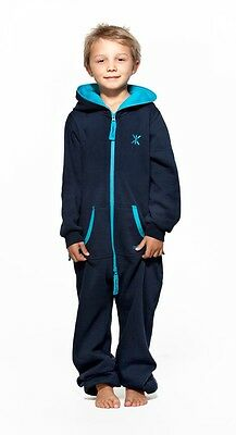 BNWT Onepiece of Norway Solid Kids Jumpsuit Onesie Navy - Size: 6-7 year old